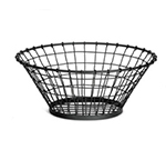 Tablecraft GM18 Round Grand Master Collection Basket, 18 x 7.5 in, Black Powder Coated Metal