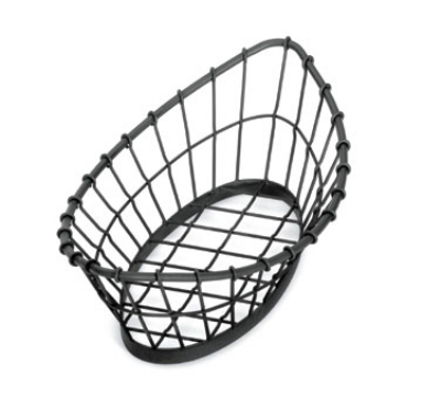 Tablecraft GM1809 Oblong Grand Master Collection Basket, 18 L x 9 W x 5.5 in H, Metal, Black