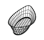 Tablecraft GM2412 Oblong Grand Master Collection Basket, 24 L x 12 W x 6 in H, Metal, Black