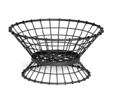 Tablecraft GML15 Round Transformer Collection Lock-N-Load Basket 15 x 8 in Metal Black Restaurant Supply