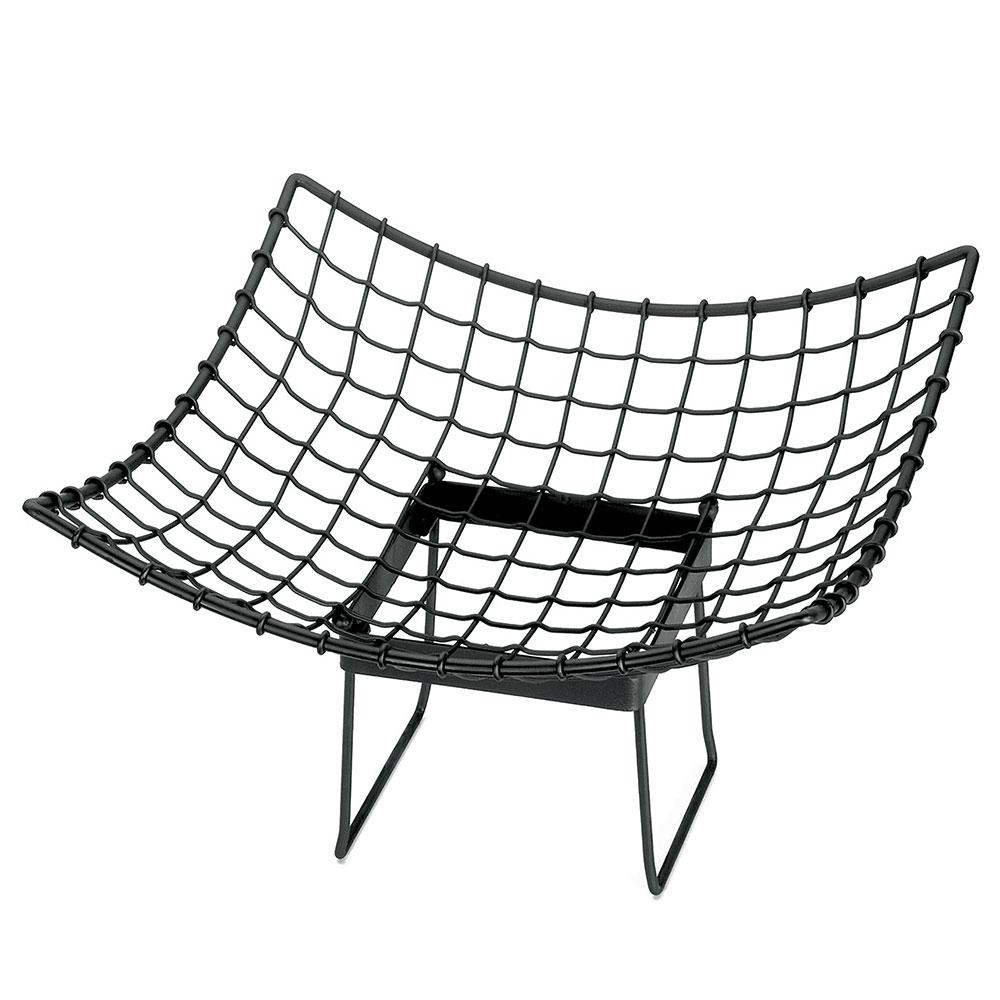"Tablecraft GMT1717 Square Grand Master Transformer Basket, 17 L x 17 W x 6""H, Metal, Black"
