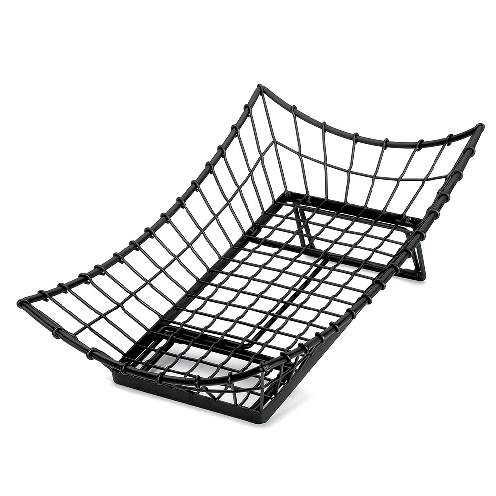 "Tablecraft GMT2113 Rectangular Transformer Collection Basket, 21 L x 13 W x 5.5""H, Black Metal"
