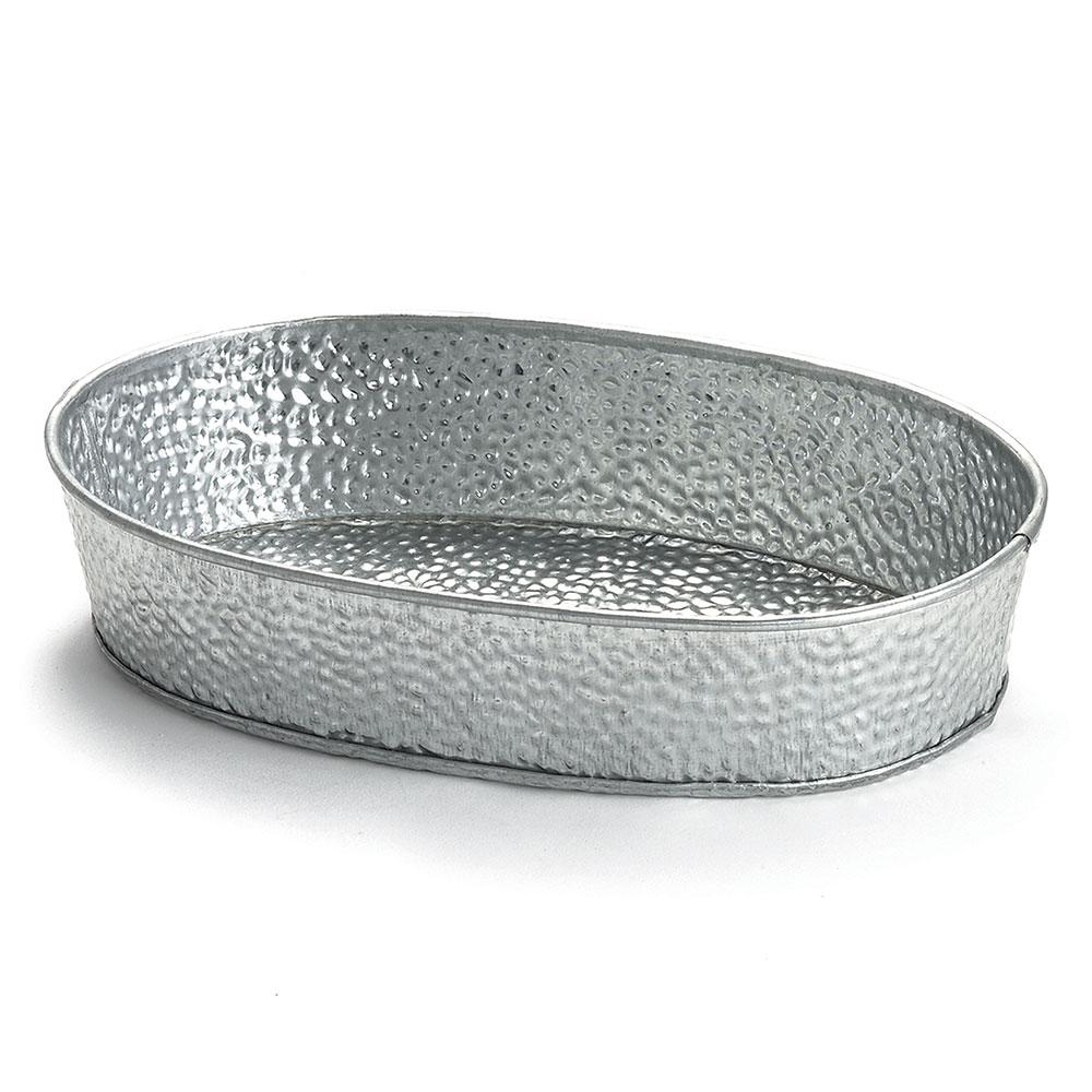 """Tablecraft GP96 Oval Dinner Platter - 9-1/2x6"""" Galvanized Steel"""