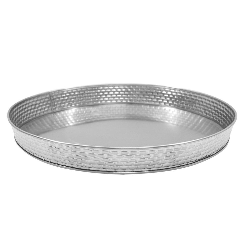 "Tablecraft GPSS10 10.5"" Round Serving Platter, Stainless"