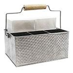 Tablecraft GPSSCADDY Rectangular Flatware Caddy w/ (4) Compartments, Stainless