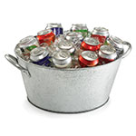Tablecraft GT1515 18.5-in Round Beverage Tub, Galvanized Steel