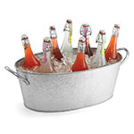 Tablecraft GT2313 Oval Beverage Tub, 23 x 13 x 7.5-in, Galvanized Steel