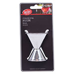 Tablecraft H1206 Dual Cup Jigger - 1-oz & 2-oz, Stainless
