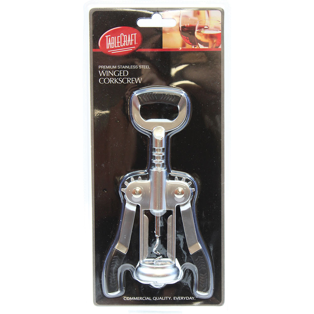 Tablecraft H1229 Premium Winged Corkscrew - Stainless