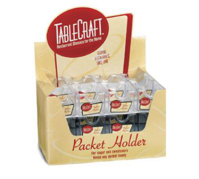 Tablecraft H56CD Sugar Packet Holder, Acrylic