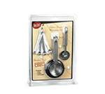 Tablecraft H726 Measuring Set, 4 Spice Spoons, 4 Cups, 5 Measuring Spoons, SS