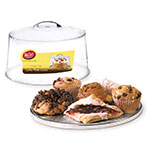 """Tablecraft H820P422 12-3/4"""" Cake Plate with Cover - Clear"""