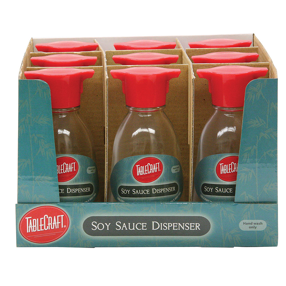Tablecraft H888CD 5-oz Glass Soy Sauce Bottle w/ Plastic Top