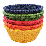 "Tablecraft HM1175A Round Basket, 8-1/4 x 3-1/4"", Assorted Color Polypropylene Cord"