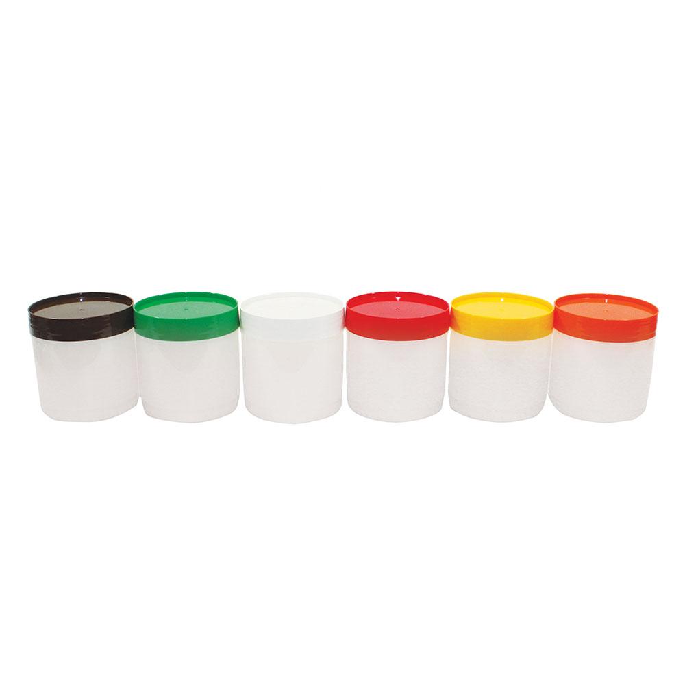 Tablecraft JC1016A Polyethylene Backup Unit w/ Assorted Color-Coded Cap, Pint Size