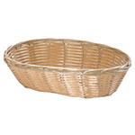 "Tablecraft M1174W Natural Oval Basket, 9-1/4 x 6-1/4 x 3-1/4"", Polypropylene"