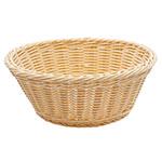 "Tablecraft M1175W Natural Round Basket, 8-1/4 x 3-1/4"", Polypropylene, Solid Cord"