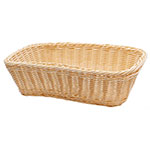 "Tablecraft M1185W Natural Rectangular Basket, 11.5 x 8.5x 3.5"", Polypropylene"