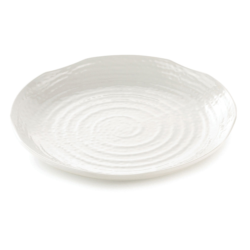 "Tablecraft M14 Pebble Pattern Frostone Collection Tray, 14"" Dia, Round, Melamine"