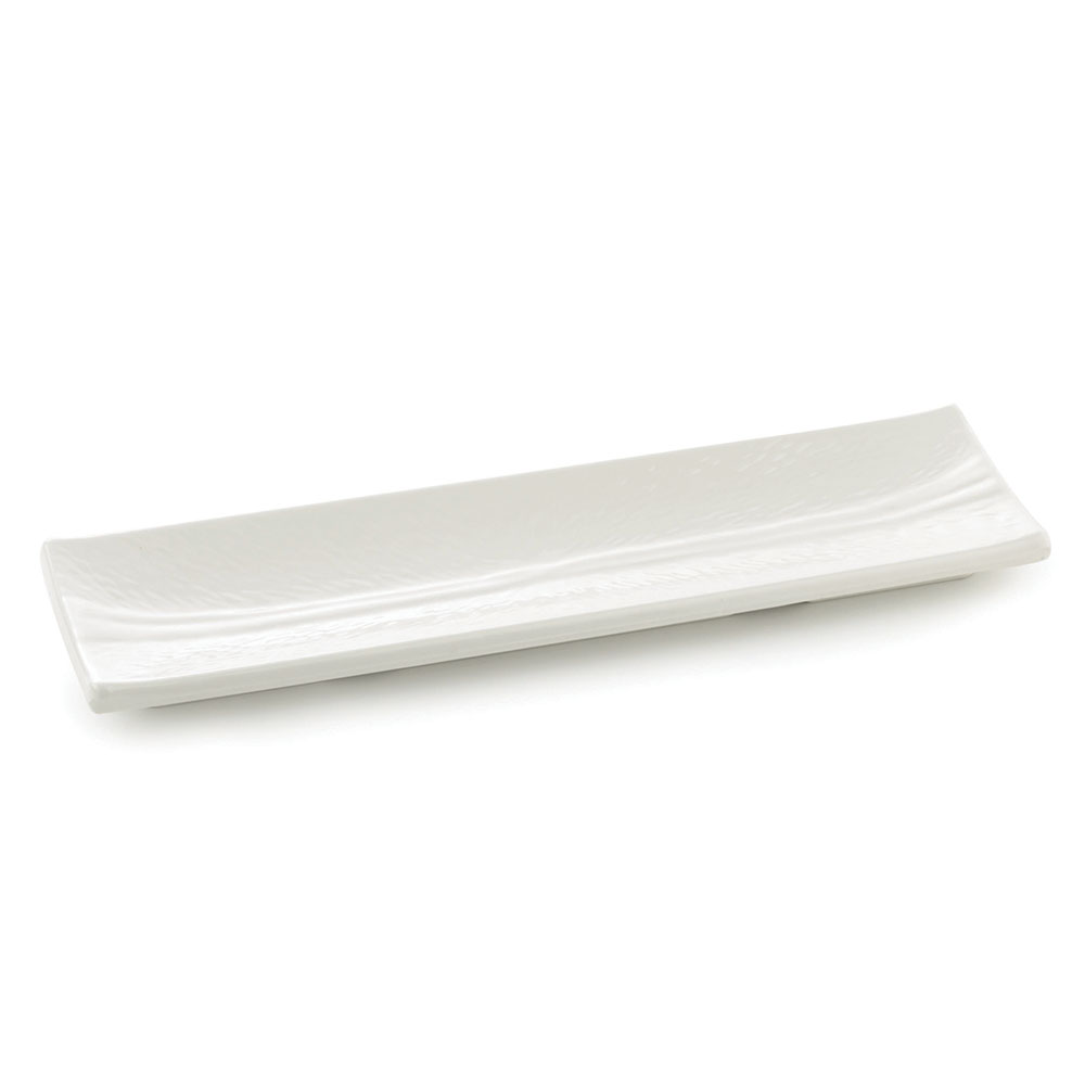 Tablecraft M165 Frostone Collection Dish, Rectangular, 15.75 x 5 in, Melamine, White