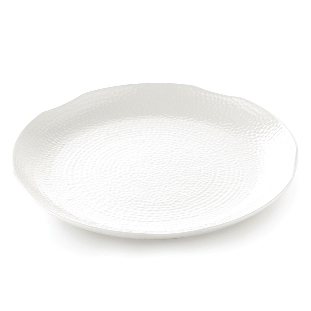 Tablecraft M18 Pebble Pattern Frostone Collection Tray, 18 in Dia, Round, Melamine