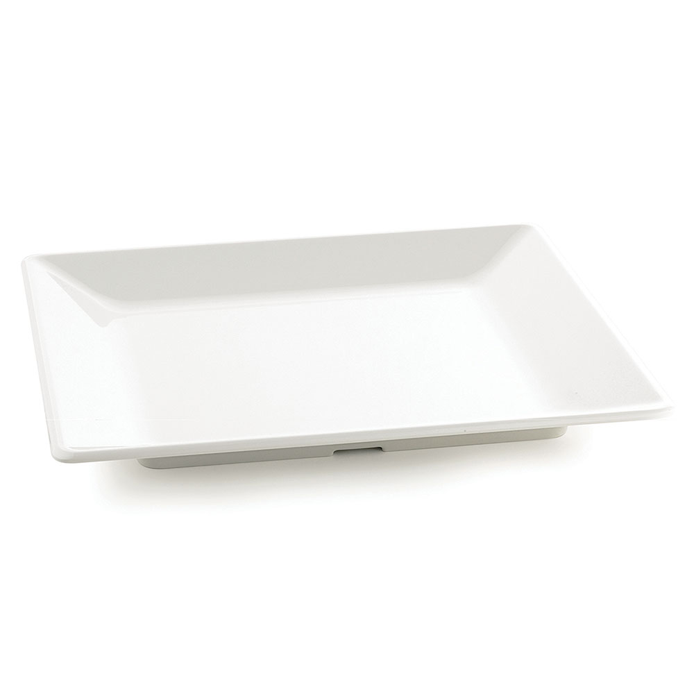 Tablecraft M1919 Frostone Collection Tray, Square, 18.75 x 18.75 in , Melamine, White