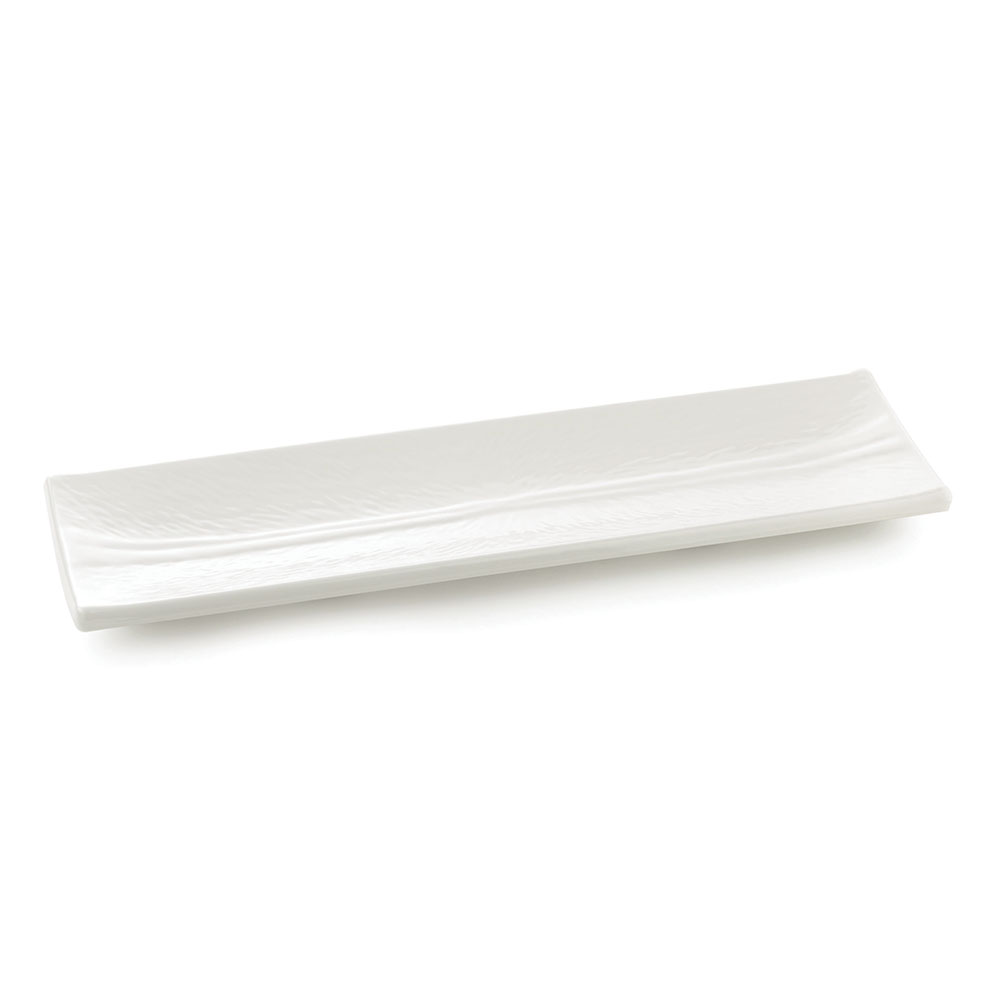 Tablecraft M206 Frostone Collection Dish, Rectangular, 20 x 6 in, Melamine, White
