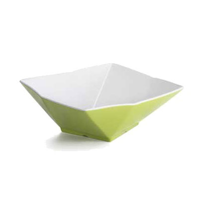 "Tablecraft MB134GNW 13"" Angled Serving Bowl - Melamine, Green"