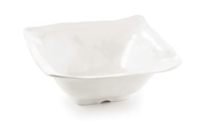 Tablecraft MB135 Frostone Collection Bowl, Square, 12.5 x 5 in, Melamine, White