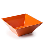 "Tablecraft MB166X 15-3/4"" Square Frostone Bowl - Melamine, Orange"