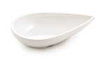 Tablecraft MB51 Frostone Collection Sauce Bowl, Teardrop, 4.5 x 1 in, Melamine, White