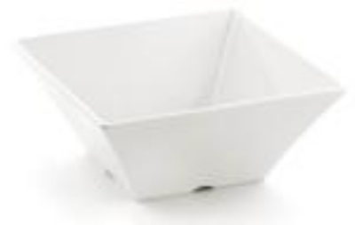 Tablecraft MB94 Frostone Collection Bowl, Square, 10 x 4 in, Melamine, White