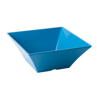 "Tablecraft MB94BL Square Bowl, 10x4"", Melamine, Blue"