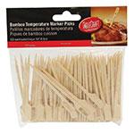 """Tablecraft MEDRARE 3.5"""" Bamboo Meat Marker Pick, Medium Rare"""