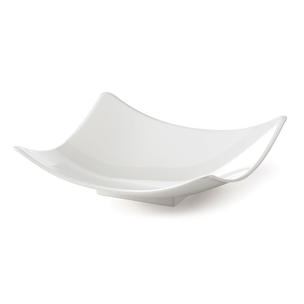 "Tablecraft MGMT1717 16.75"" Square Serving Bowl - Melamine, White"