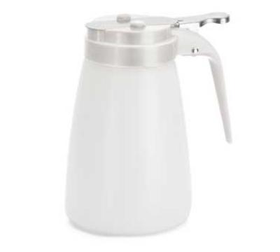 Tablecraft MW10W 10-oz Polyethylene Dispenser w/ White ABS Top, White