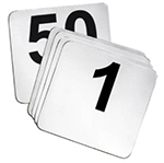 Tablecraft N2650 4-in Number Card Signs, #26-50, Stainless Steel