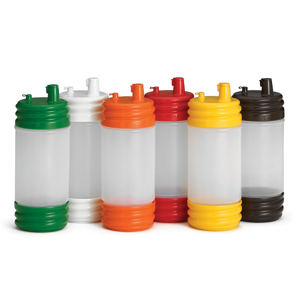 Tablecraft N32LPA PourMaster 1-qt Bottle w/ Low Profile Top & Cap, Assorted