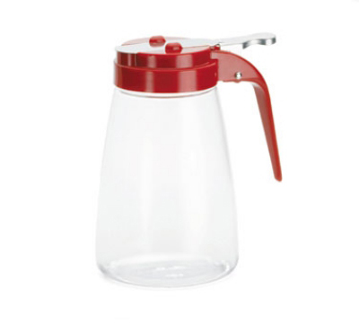 Tablecraft P10RE Dispenser, 10-oz Polycarbonate, Red ABS top