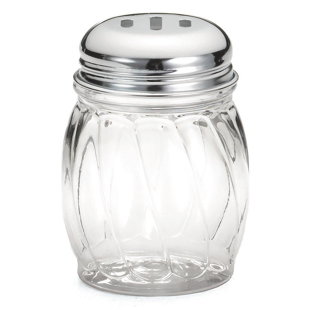 Tablecraft P260SL 6-oz Swirl Polycarbonate Shaker w/ Chrome Plated Slotted Top