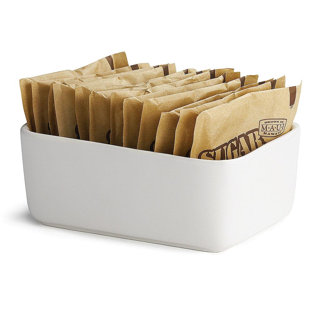 """Tablecraft P56 White Porcelain Sugar Packet Holder, 4 x 2-1/4 x 1-1/2"""""""