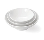 Tablecraft PB103 Ribbed Round Glacier Collection Bowl, 10.25 x 3.5 in, Porcelain, White