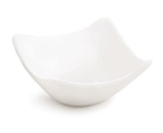 Tablecraft PB33 Square Glacier Collection Porcelain Sauce Dish, 3 x 3 in, White