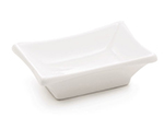 Tablecraft PB42 Rectangular Glacier Collection Porcelain Sauce Dish, 3.5 x 2.5 in, White