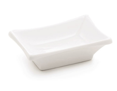 Tablecraft PB42 Rectangular Glacier Collection Porcelain Sauce Dish Restaurant Supply