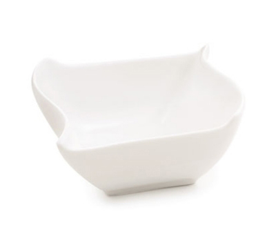Tablecraft PB53 Square Glacier Collection Porcelain Sauce Dish, 4 x 3.25 in, White