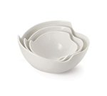 Tablecraft PB84 Round Glacier Collection Porcelain Art Deco Bowl, 8 x 4 in, White