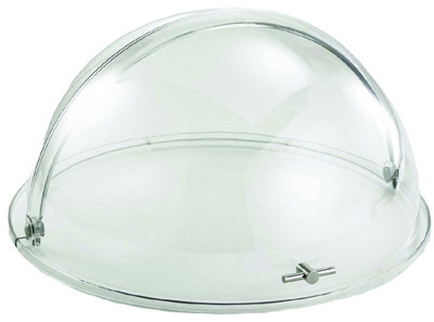 Tablecraft PC2N Dome Tray, Round Mirror w/ Chrome Plate, Polycarbonate Cover w/ Stainless Steel