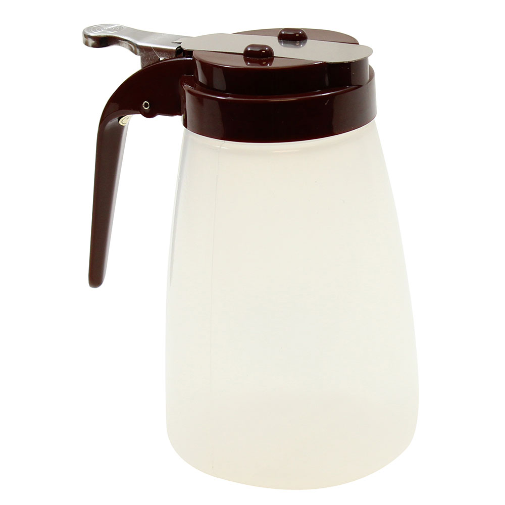 Tablecraft PP10B 10-oz Syrup Dispenser - Polypropylene, Brown