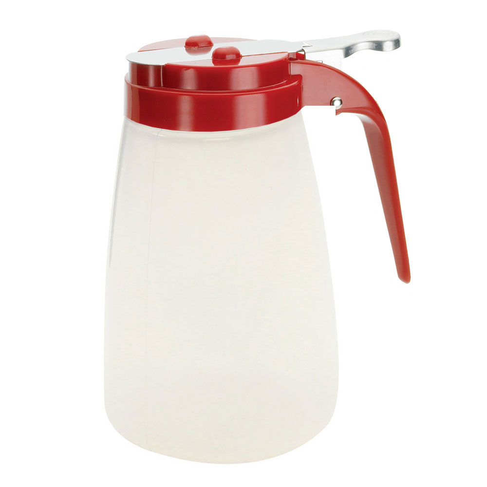 Tablecraft PP10RE 10-oz Syrup Dispenser - Polypropylene, Red